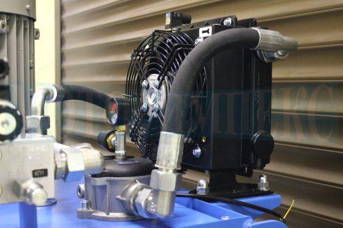 Воздушный маслоохладитель SS1503 производителя OMT на гидравлической станции МИ-1200
