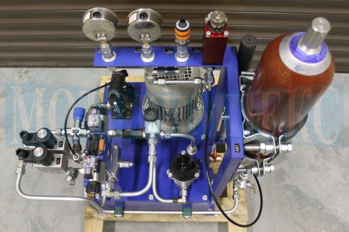 Гидроаккумулятор Epoll маслостанции СМИ-1167, манометры и реле давления