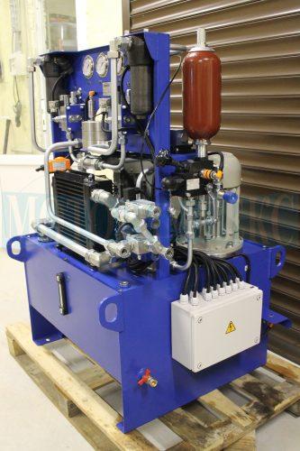 Гідрообладнання маслостанції МІ-684: гідроакумулятор Epoll, блок безпеки Ponar, гідроклапани