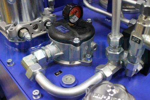 Сливной фильтр MPF1001 с визуальным индикатором загрязнения на маслостанции МИ-1260
