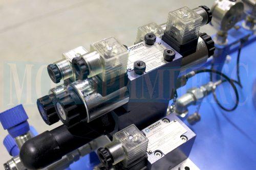 Электромагнитные гидрораспределители 4WE6 на монтажной плите BMA маслостанции МИ-1200