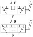 Дивертора 3-х лінійні DF AP сталеві