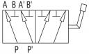Дивертора 6-ти лінійні DF 6A сталеві