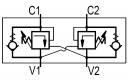 Гальмівні клапани двосторонньої дії OWC / DE-34