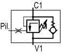 Тормозные клапаны одностороннего действия OWC/SE-38/M