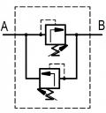 Двосторонні запобіжні клапани RVC25 M2-25A