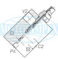 Тормозные клапаны OWC-SE-14 одностороннего действия