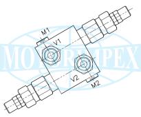 Запобіжні клапани VDI-45-SN-FM-12D двосторонньої дії для гідромоторів