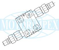 Безутечные предохранительные клапаны VDI-45-SN двустороннего действия