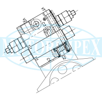 Гальмівні клапани WB-VS-M-DI-VFF-F-12-14 двосторонньої дії для гідромоторів