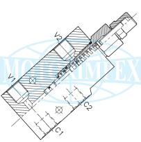 Тормозные клапаны A-OWC-SE-L-FR одностороннего действия