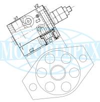 Гальмівні клапани WB-M-SE-VFF-12-14 односторонньої дії для гідромоторів