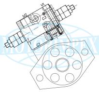 Гальмівні клапани WB-M-DE-VFF-12-14 двосторонньої дії для гідромоторів