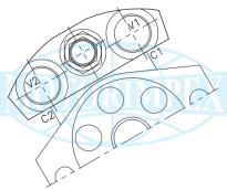 Гальмівні клапани OWC-SE-34-FMD-A односторонньої дії для гідромоторів