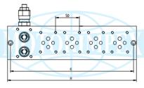 Секционные монтажные плиты BMA с предохранительным клапаном