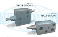 Гальмівні клапани VBCDF DE і VBCDF SE для гідромоторів DANFOSS серії OMS