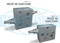 Гальмівні клапани VBCDF DE і VBCDF SE для гідромоторів DANFOSS серії OMP і OMR
