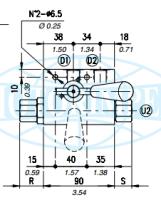 Гідрозамки односторонньої дії VBPSL / R з краном