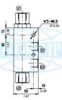 Гідрозамки односторонньої дії VBPSL і VBPSF