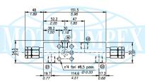 Тормозные клапаны двустороннего действия VODL/SC/CC/F1/C 1116