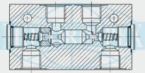 Гідрозамки двосторонньої дії RPDR