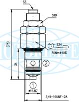 Картриджные предохранительные клапаны RV08-2A