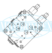 Клапани розвантаження VDP-L16-FC7-34-L-F для здвоєних насосів