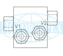 Запобіжні клапани VSW-VMP-DII-12-FM двосторонньої дії для гідромоторів