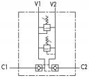 Двусторонние предохранительные клапаны VBAU с обратными клапанами