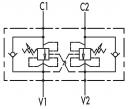 Гальмівні клапани двосторонньої дії VBCD DE FL CC
