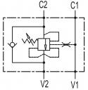 Тормозные клапаны одностороннего действия VBCD SE A CC