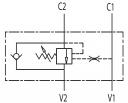 Тормозные клапаны одностороннего действия VBCD SE A